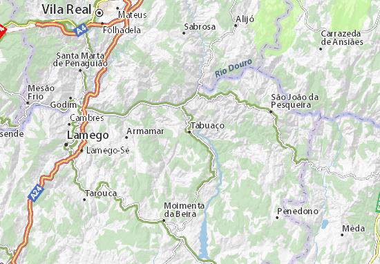 mapa de portugal tabuaço Mapa Tabuaço   plano Tabuaço  ViaMichelin mapa de portugal tabuaço
