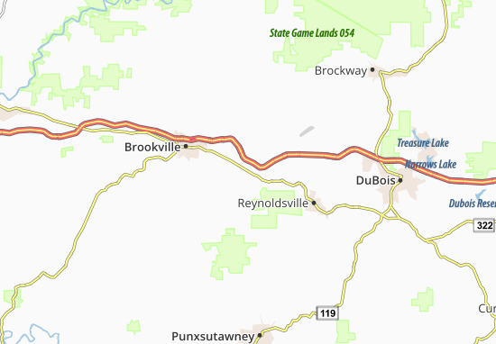 Emerickville Map