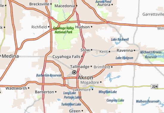 Cuyahoga Falls Map