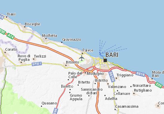 Cartina Aeroporti Puglia.Mappa Michelin Aeroporto Di Palese Pinatina Di Aeroporto Di Palese Viamichelin