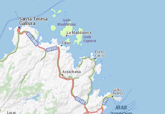 Cartina Sardegna Golfo Aranci.Mappa Michelin Baia Sardinia Pinatina Di Baia Sardinia Viamichelin