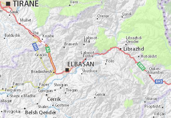 Mapas-Planos Labinot-Fushë