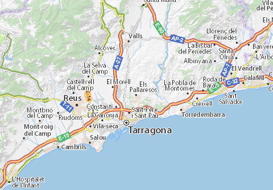 Kaart Plattegrond Els Pallaresos