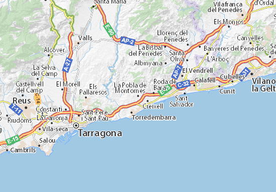 Mapas-Planos La Pobla de Montornès