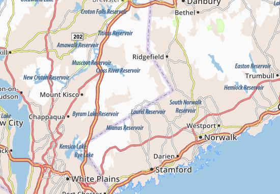 Carte-Plan Pound Ridge