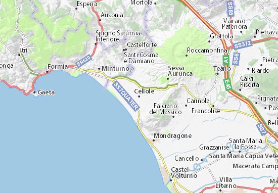 Cellole Map