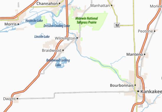Kaart Plattegrond Custer Park