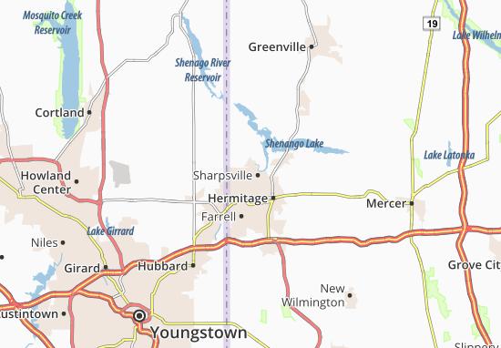 Sharpsville Map