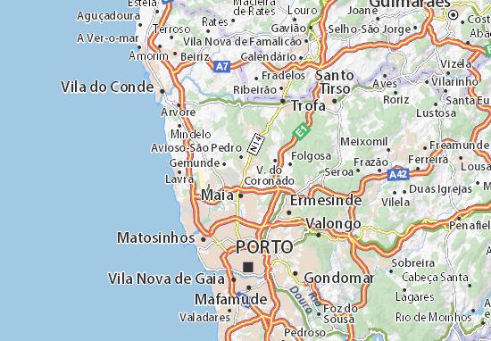 Mapa Plano Castelo da Maia