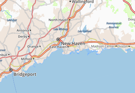 Kaart Plattegrond East Haven