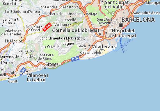Kaart Plattegrond Castelldefels