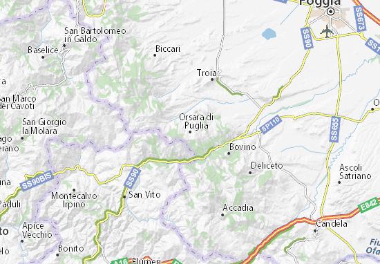 Mappe-Piantine Orsara di Puglia