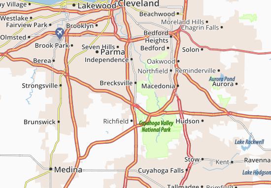 Brecksville Map