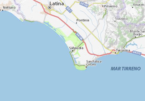 Carte-Plan Sabaudia