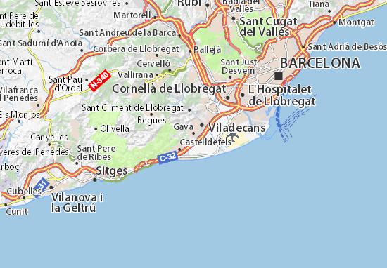 Gavà Map