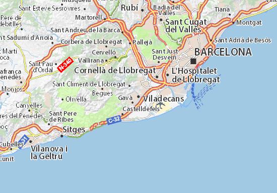 Kaart Plattegrond Viladecans