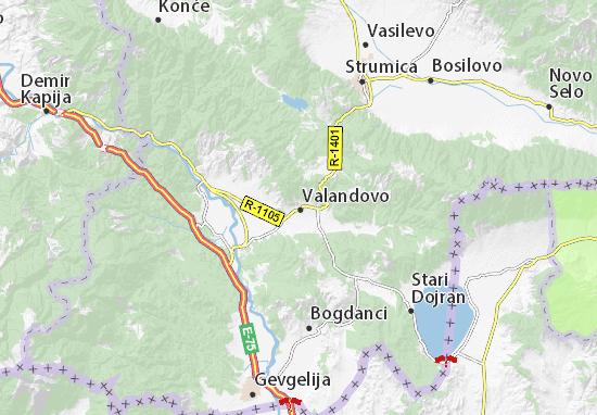 Kaart Plattegrond Valandovo