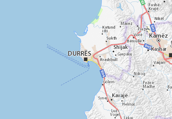 Karte Stadtplan Durrës