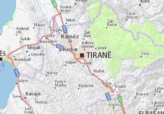 Carte-Plan Tiranë