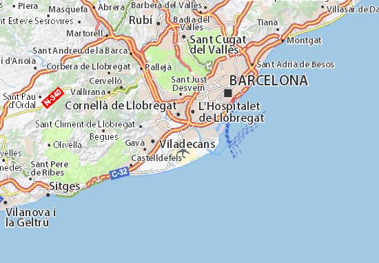 Carte-Plan El Prat de Llobregat