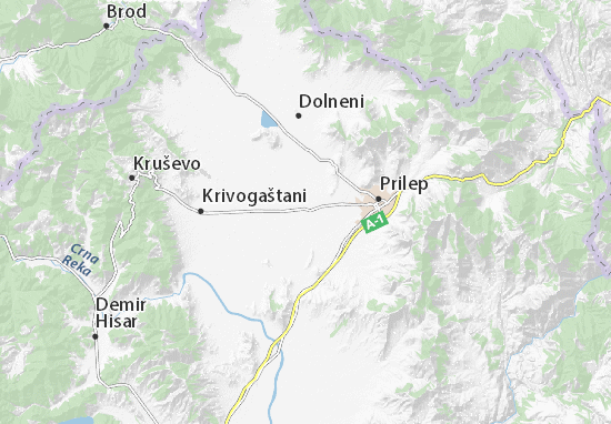 Malo Konjari Map