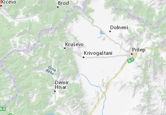 Krivogaštani Map