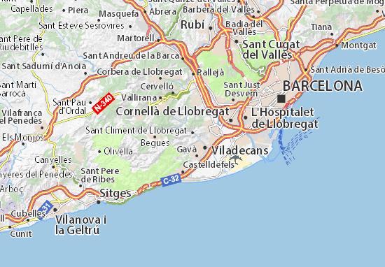 Mapas-Planos Sant Climent de Llobregat