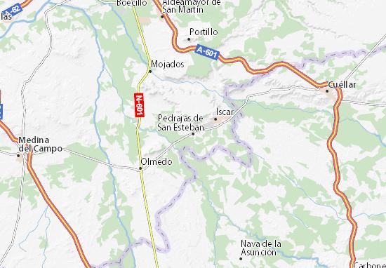 Carte-Plan Pedrajas de San Esteban