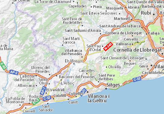 Mapa Plano Vilafranca del Penedès