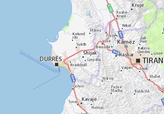 Mapa Plano Shijak