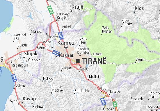 Babrru Qendër Map