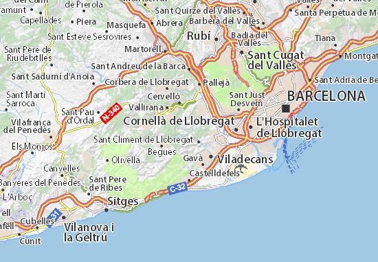 Carte-Plan Torrelles de Llobregat