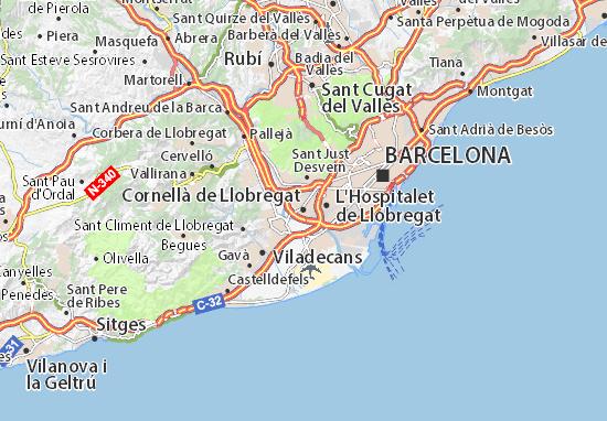 Cornella De Llobregat Mapa.Mapa Cornella De Llobregat Plano Cornella De Llobregat