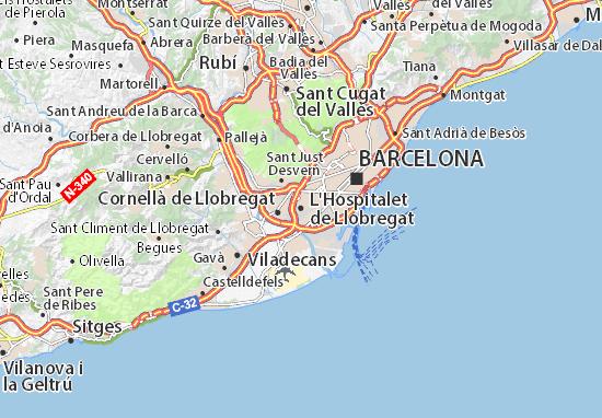 Mapa De L Hospitalet.Mapa L Hospitalet De Llobregat Plano L Hospitalet De