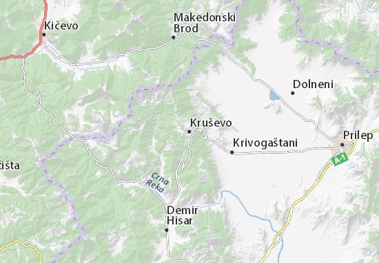 Mapa Plano Kruševo