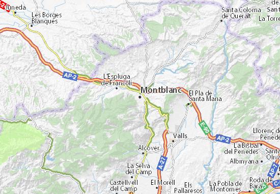 Mapa Plano Montblanc