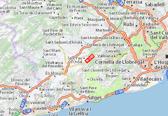 Mappe-Piantine Sant Pau d'Ordal