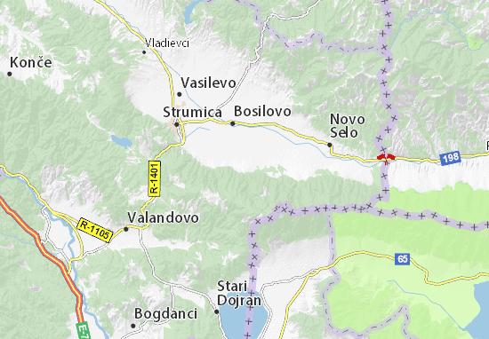 Kaart Plattegrond Bansko