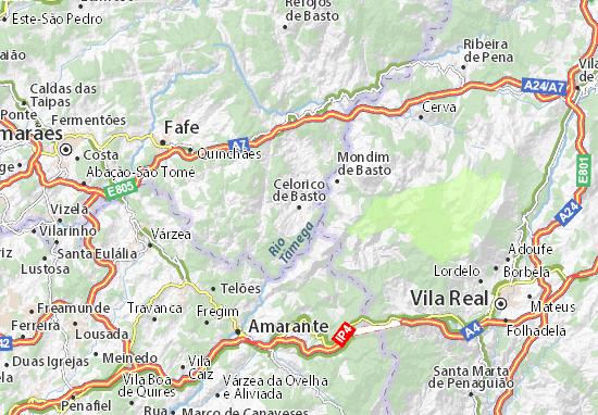 celorico de basto mapa Mapa Celorico de Basto   plano Celorico de Basto  ViaMichelin celorico de basto mapa