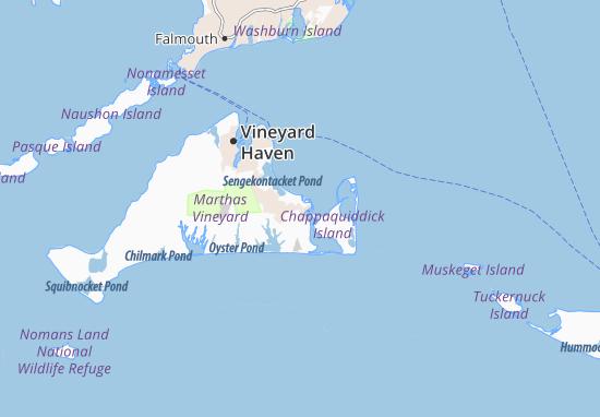 Kaart Plattegrond Edgartown
