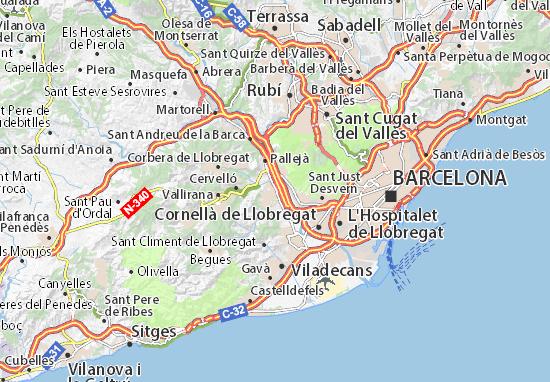 Kaart Plattegrond Sant Vicenç dels Horts