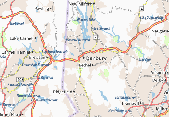 Carte-Plan Danbury
