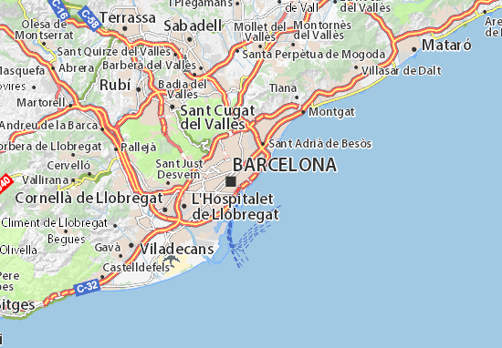 Barcelona Map: Detailed maps for the city of Barcelona ...