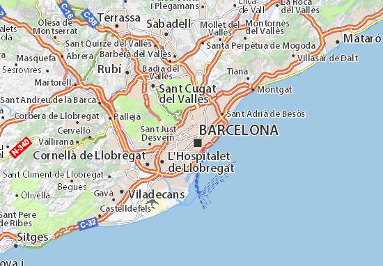 Cartina Barcellona Tomveelers