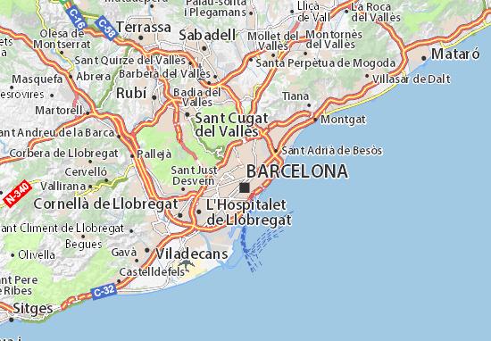 Cartina Itinerario Barcellona.Mappa Barcellona Cartina Barcellona Viamichelin