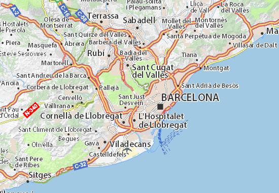 Carte Meteo Barcelone.Carte Detaillee Barcelone Plan Barcelone Viamichelin