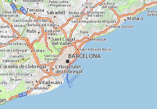 Map of Barcelona - Michelin Barcelona map - ViaMichelin