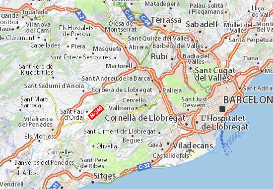 Mapas-Planos Corbera de Llobregat