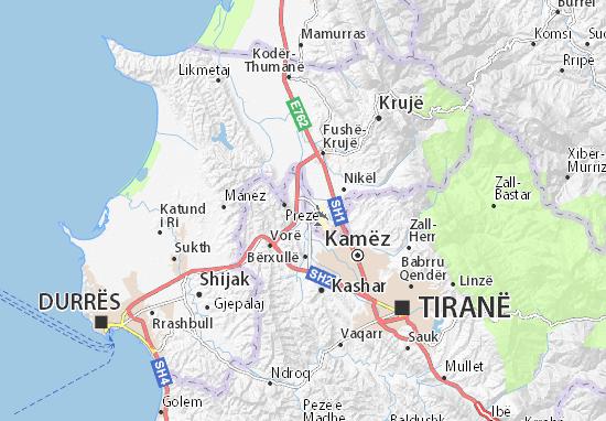 Carte-Plan Tiranë Aeroport