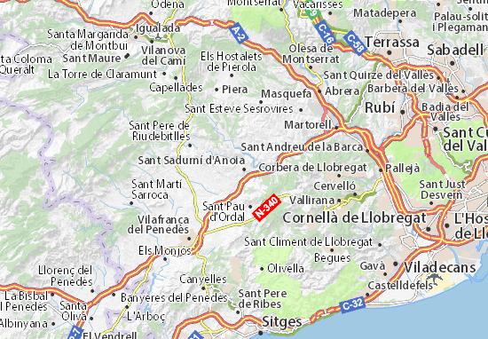Sant Sadurní d'Anoia Map